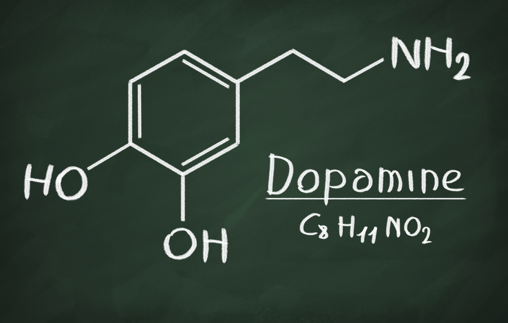 Dopamine chemical structure. (stock image)