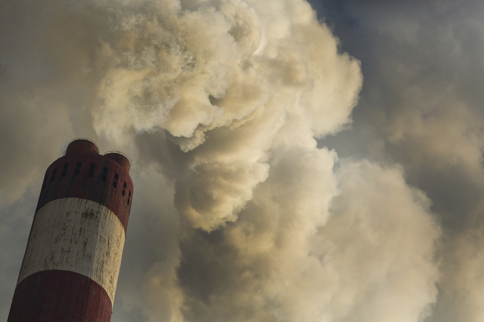 A coal burning smokestack. (stock image)