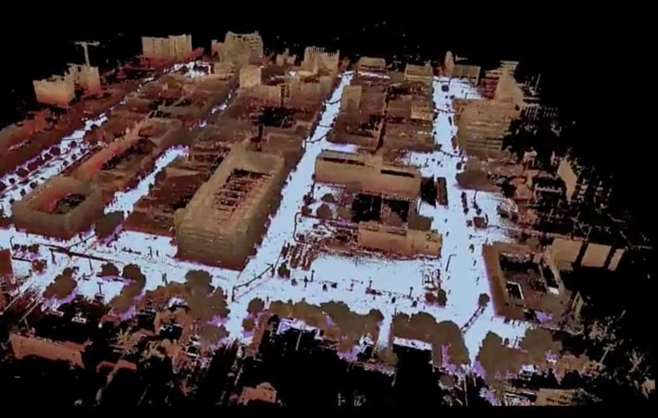A LiDAR image of Ann Arbor in snow. Image credit: Ryan Eustice
