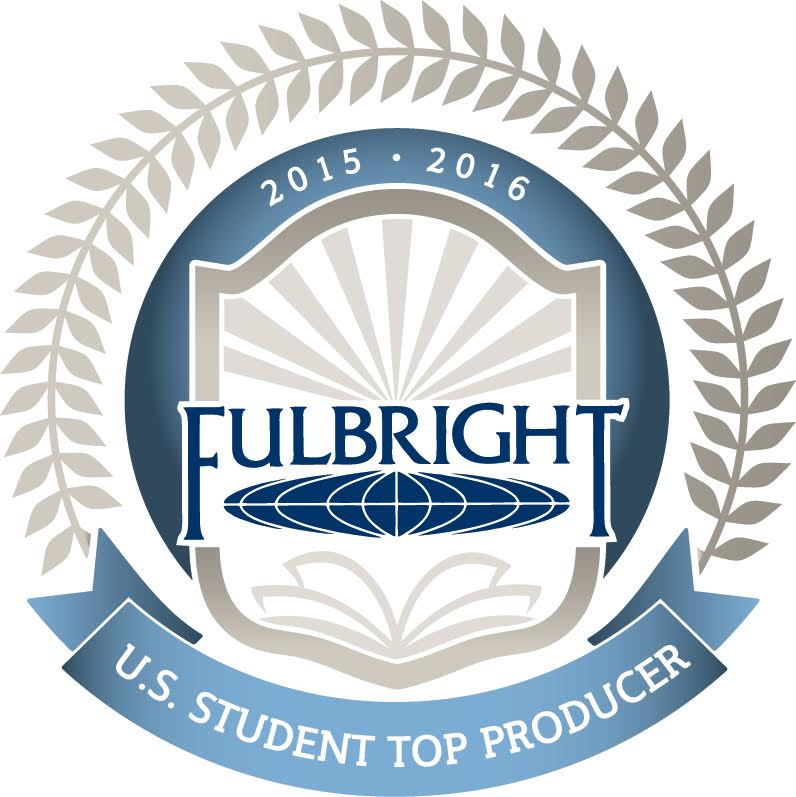 2015-2016 Fulbritght U.S. Student Top Producer badge graphic.