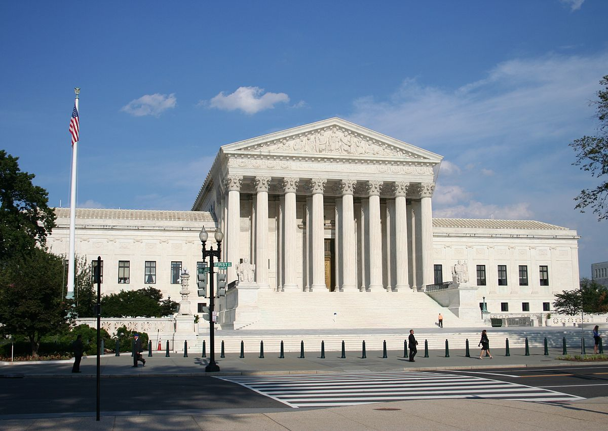 Supreme Court of the United States Building, Washington, DC, as seen from the west side of 1st St NE. Image credit: 350z33 at English Wikipedia [CC BY-SA 3.0 (http://creativecommons.org/licenses/by-sa/3.0) or GFDL (http://www.gnu.org/copyleft/fdl.html)], via Wikimedia Commons