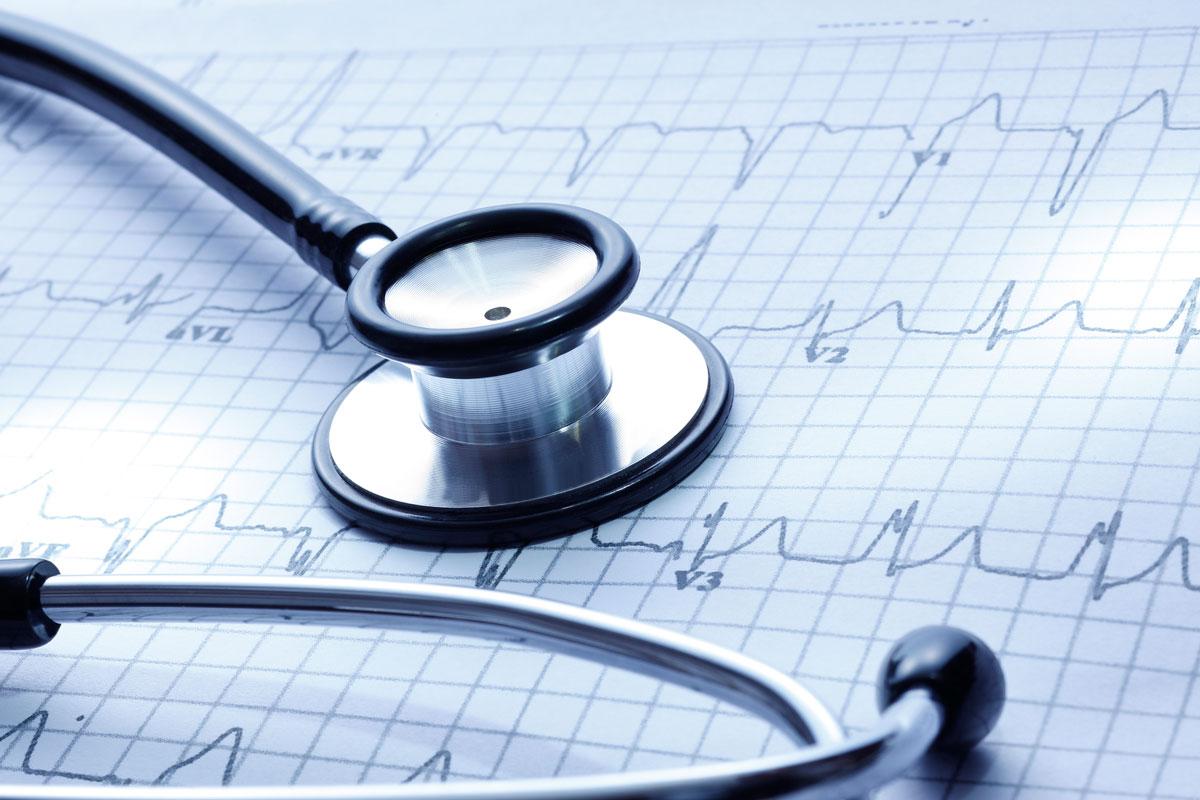 Stethoscope and cardiogram (istock).