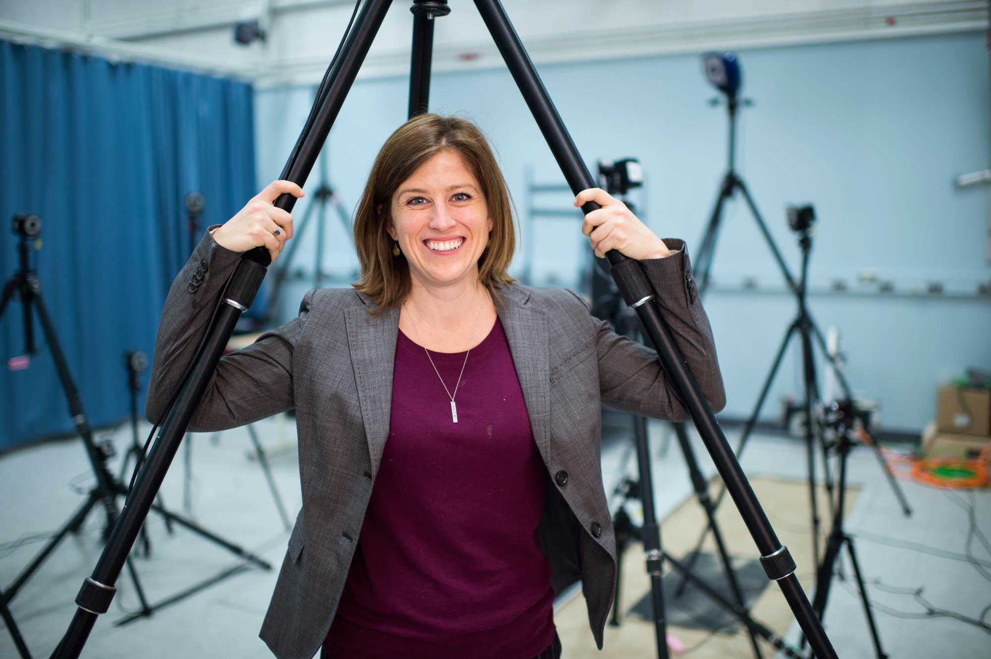 Deanna Gates, director of the Rehabilitation Biomechanics Laboratory at the University of Michigan. Image credit: Austin Thomason, Michigan Photography