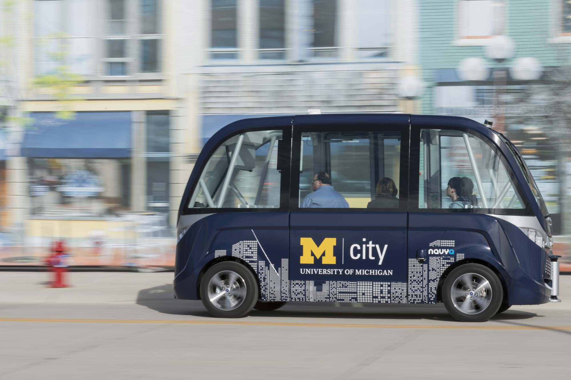 The driverless shuttle at Mcity. Image credit: Roger Hart, Michigan Photography