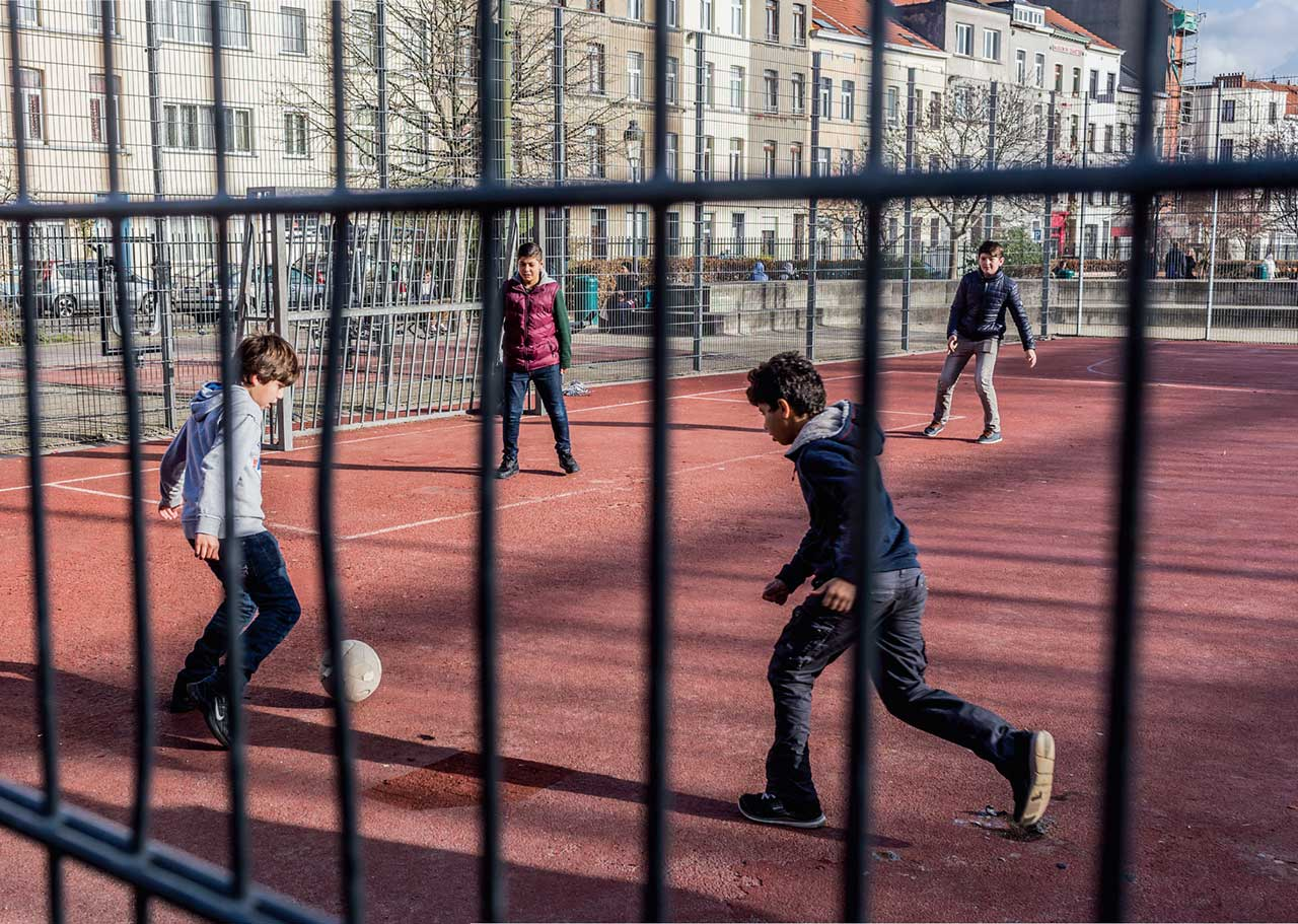 "In Molenbeek-Saint-Jean, Brussels, Belguim, these young people could go one way or another in response to terrorist recruitment. How can scientific research understand and change the outcome? ""PHOTO: ARTURAS MOROZOVAS/BARCROFT MEDIA/BARCROFT MEDIA VIA GETTY IMAGES"