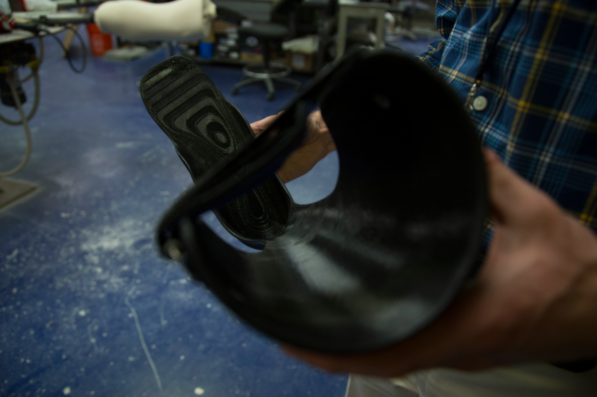 A finished 3D-printed orthotic device. Image credit: Kelly O'Sullivan, Michigan Engineering