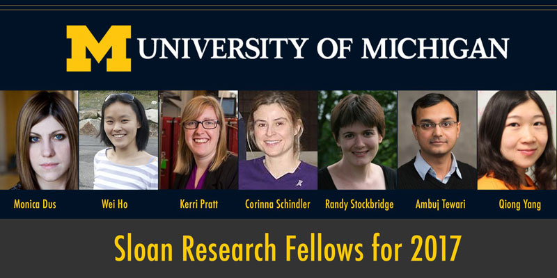Seven U-M scientists selected for Sloan Fellowships