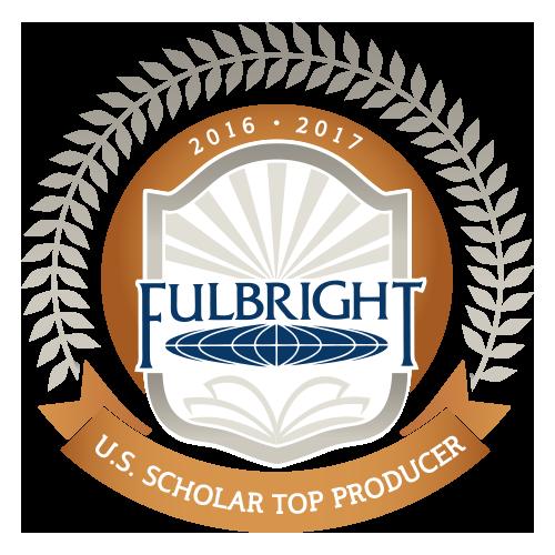 Fulbright award for top U.S. scholar producer.