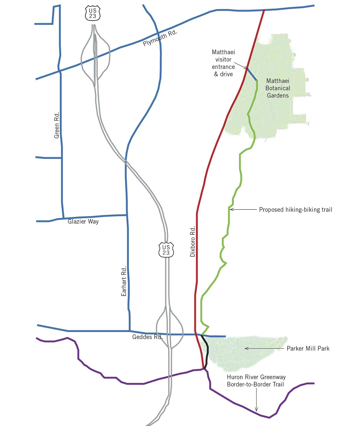 Dixboro road trail map.