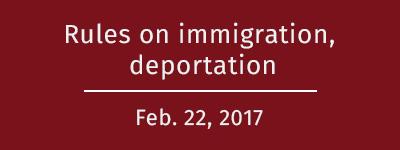 Immigration, deportation rules
