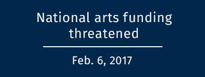 National arts funding threatened