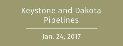 Keystone and Dakota pipelines