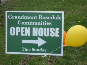 Grandmont Rosedale Communities open house sign. Image Credit: Nathanael Rieger