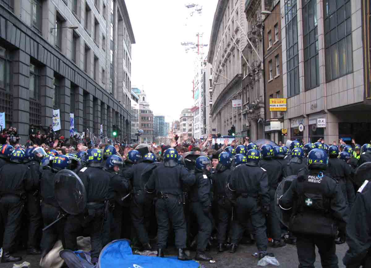 Image of a street riot