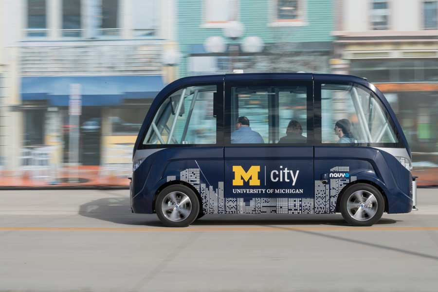Image of MCity shuttle