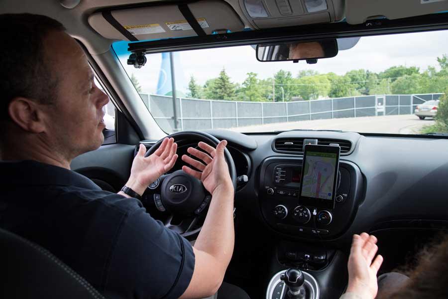 Image of self-driving car