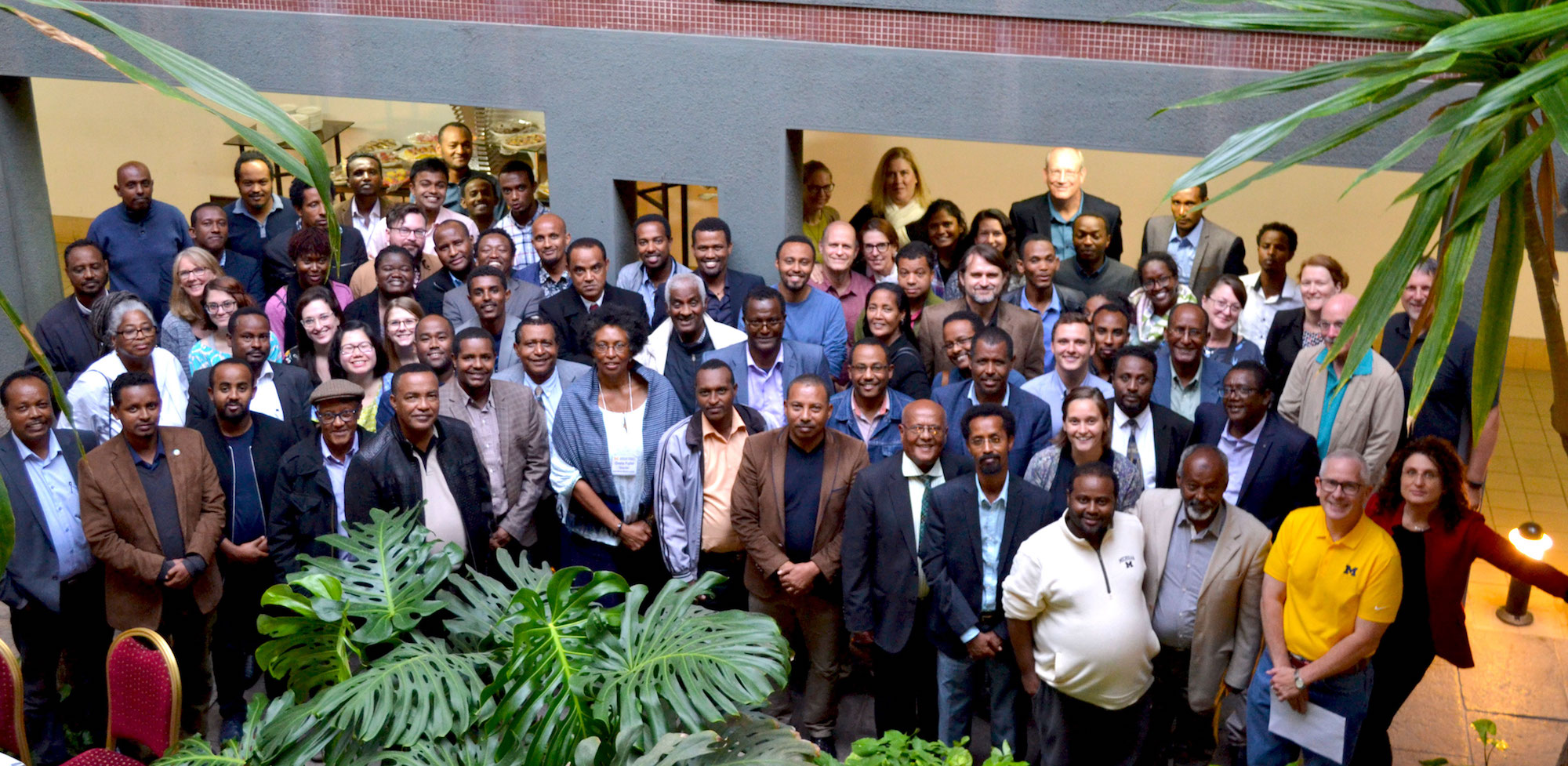 U-M researchers with their partners from various Ethiopian universities and organizations. Image credit: Mandira Banerjee