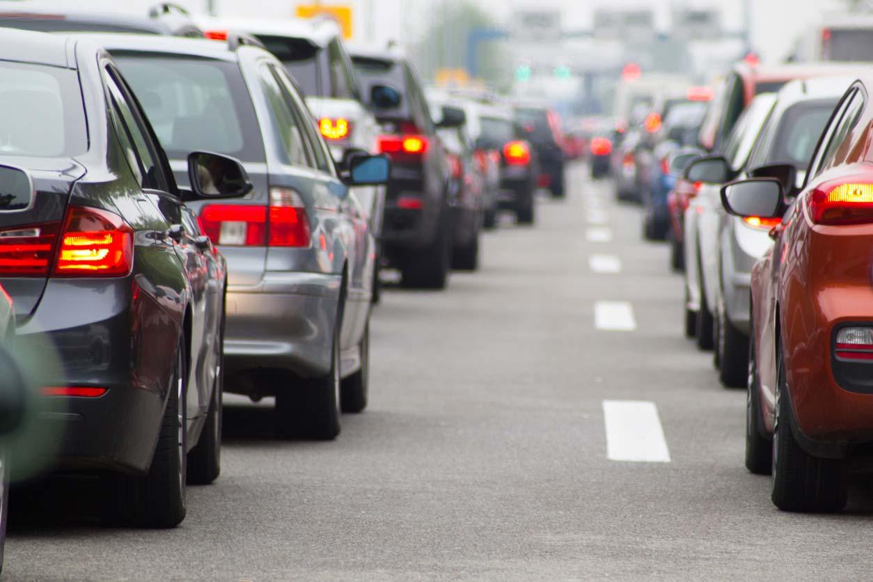 Traffic jam. (stock image)