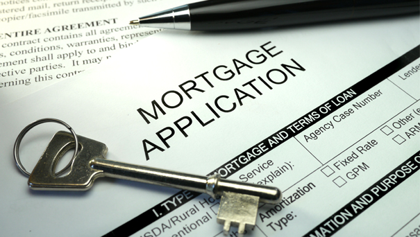 Mortgage application. (stock image)