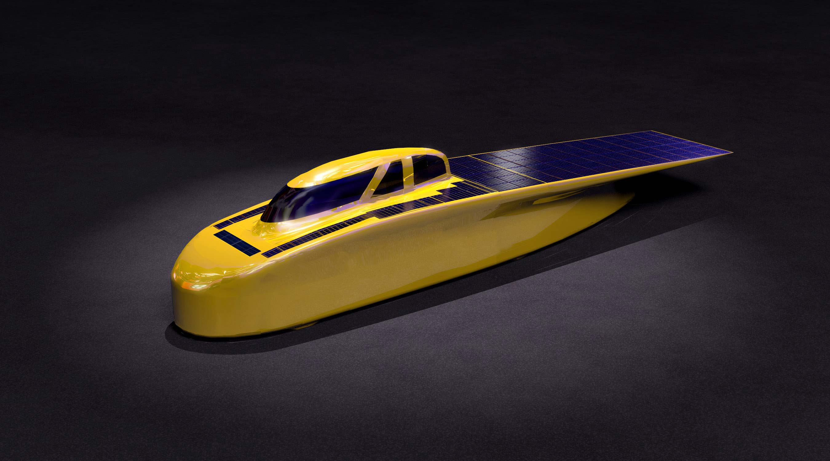 "Image of the long, skinny, single-fairing car is named Novum—Latin for ""new thing."""
