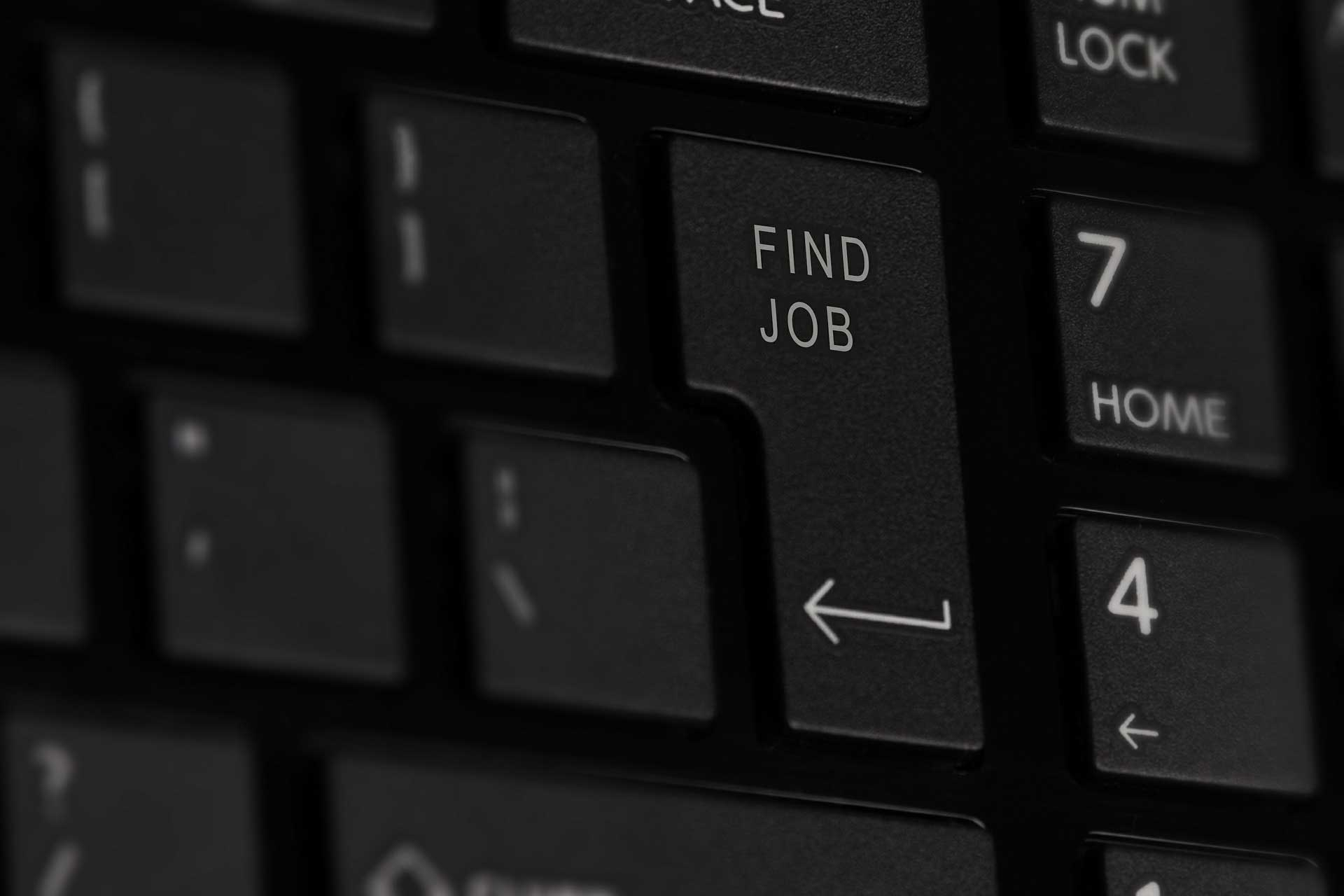 "A keyboard with a button labeled ""job search"". Image credit: Niek Verlaan via Pixabay"