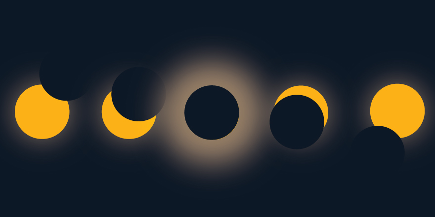 Illustration of the eclipse cycle. Illustration credit: Kaitlyn Beukema