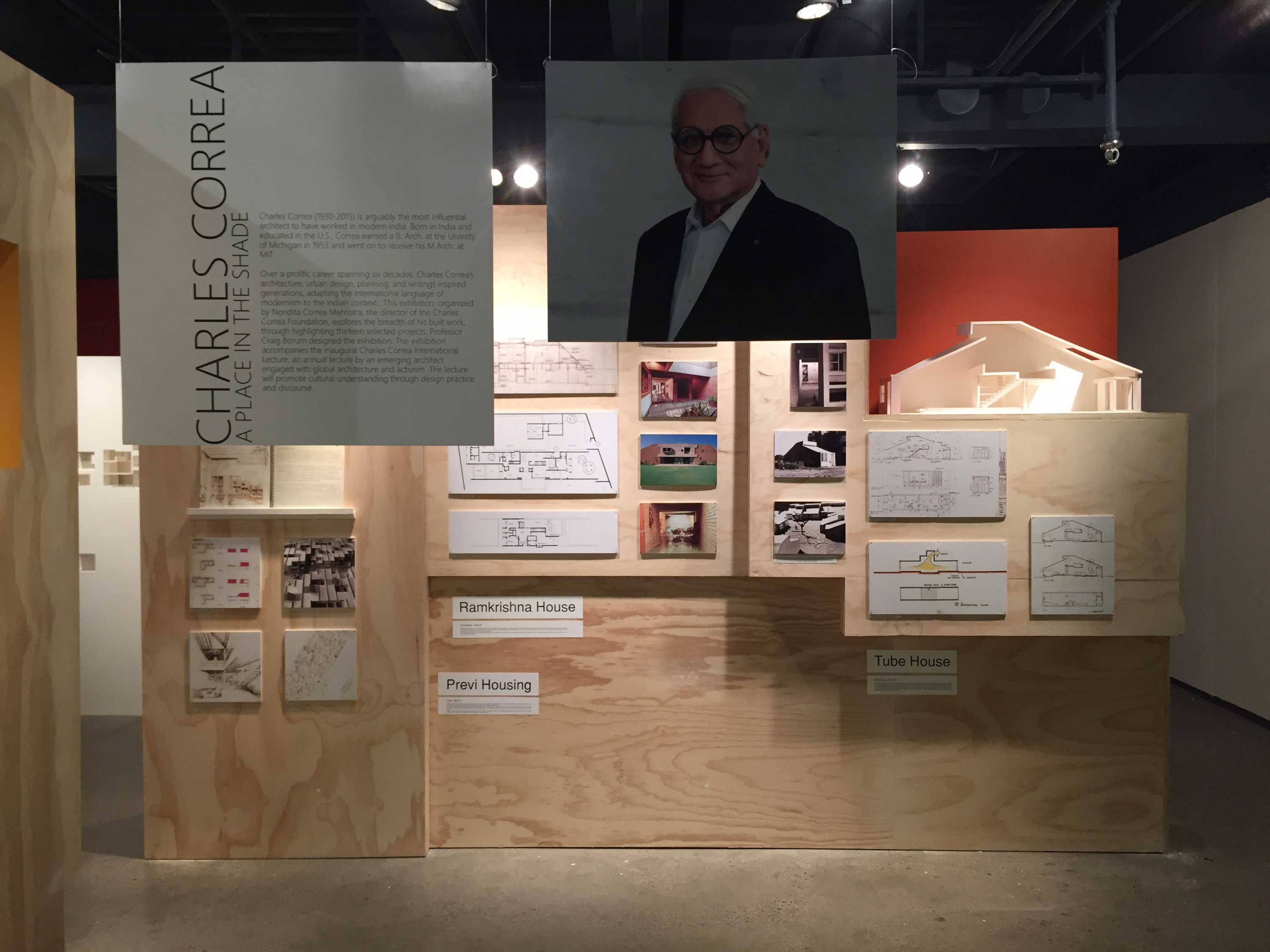 """A Place in the Shade: Selected Projects by Charles Correa"""" is  exhibition featuring 13 projects from six decades of work. It runs at the Taubman College  Gallery runs through Sept. 22. Image credit: Run Yu"""