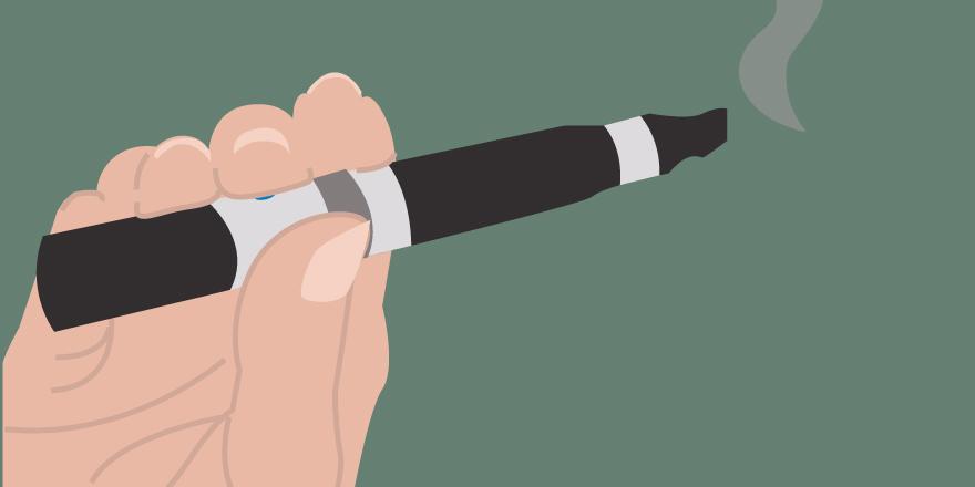 Illustration of a marijuana vaporizer pen, created by Katie Beukema