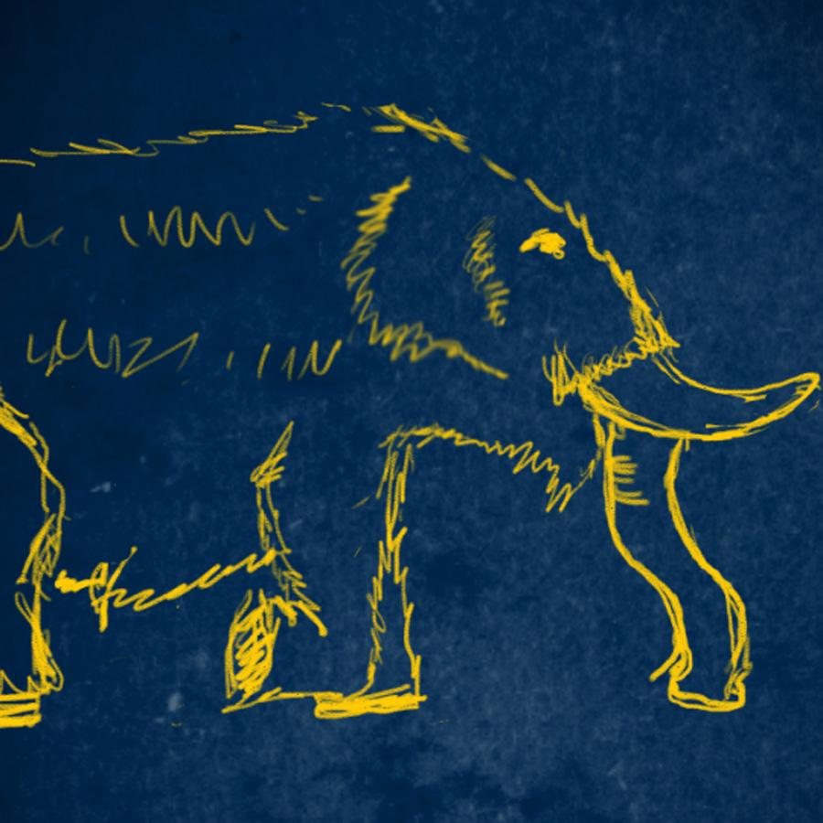 Illustration of a mastodon