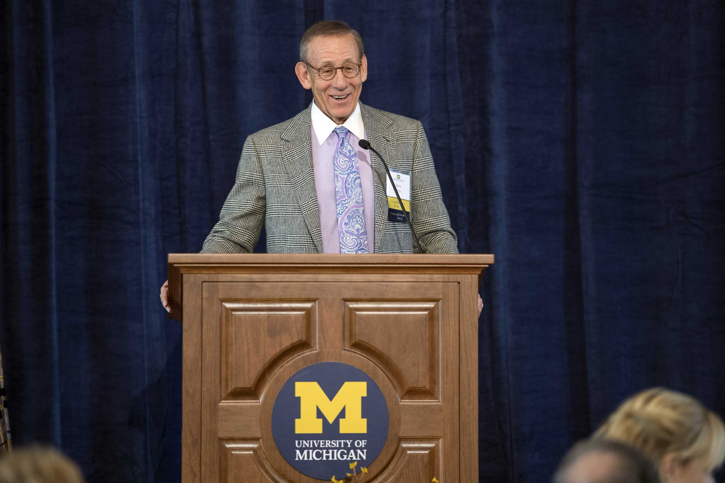 10/21/16 Stephen M. Ross is honored as an outstanding volunteer with the prestigious David B. Hermelin Award for Fundraising Volunteer Leadership. Image credit: University of Michigan