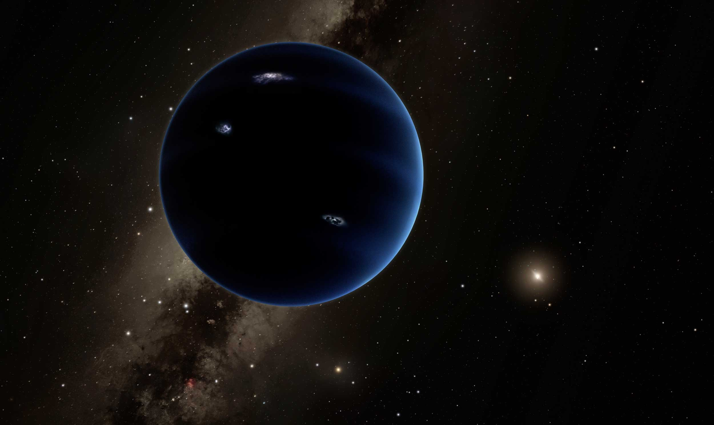"Artist's concept of the ""Planet Nine"". Image credit: NASA/JPL-Caltech/Robert Hurt"