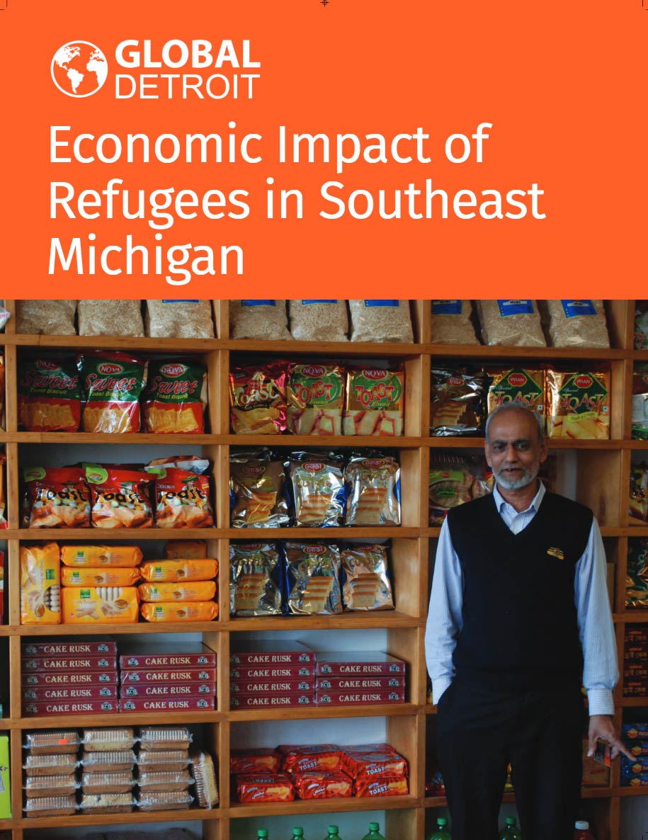 Economic Impact of Refugees in Southeast Michigan report cover.