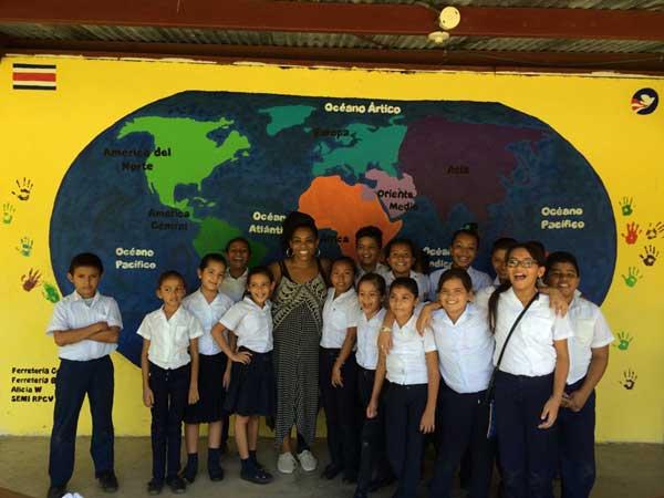 Lauren Birks served in Costa Rica as a youth development volunteer on behalf of the School of Social Work. Image courtesy Lauren Birks.