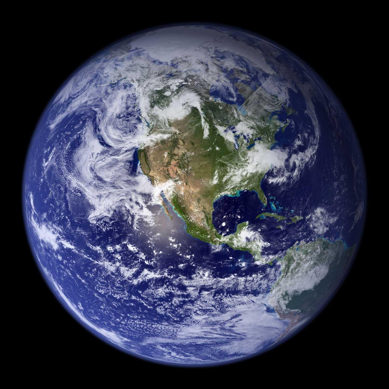 Earth Western Hemisphere. Image credit: NASA
