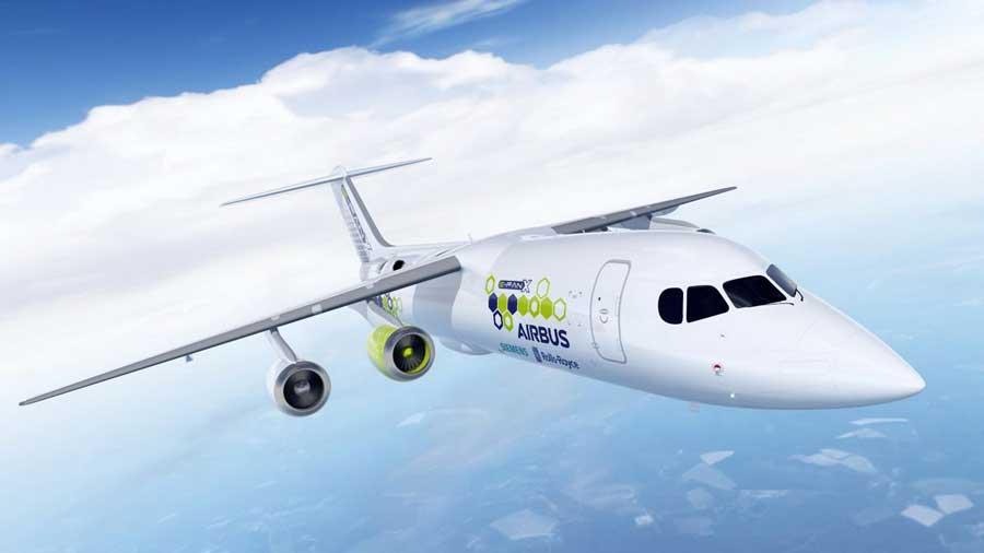Aeronave de demonstração E-Fan X, proposta pela Airbus.