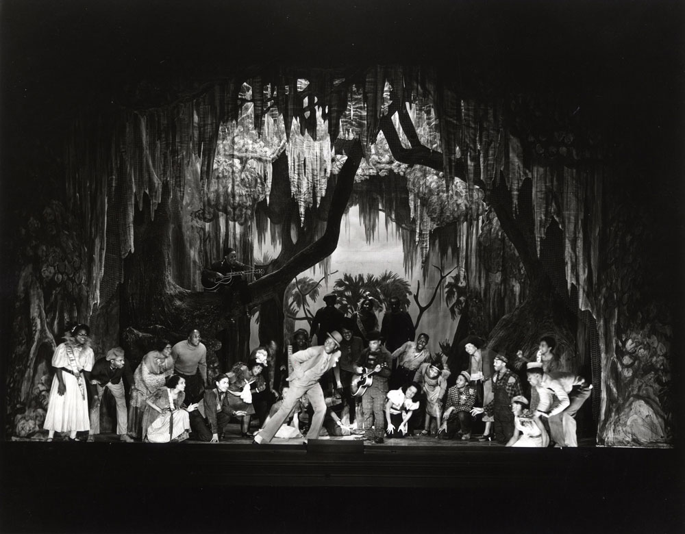 "John Bubbles performing ""It Ain't Necessarily So,"" Alvin Theatre, NY. Image credit: Ira & Leonore Gershwin Trusts"