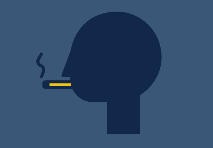 Icon of man smoking
