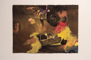 Painting by Ellen Wilt of Car Accident