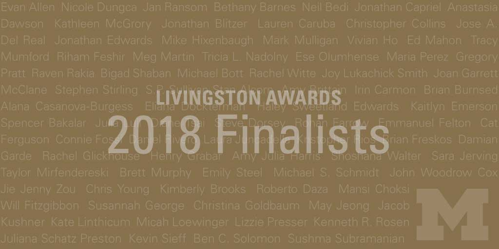 Livingston Awards 2018 Finalists