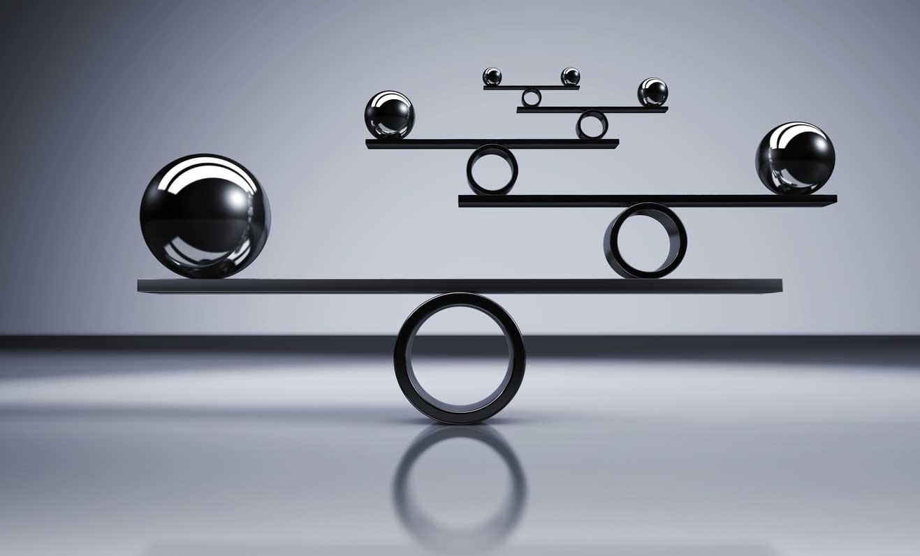 Imagem do conceito que descreve o equilíbrio dos negócios e estilo de vida. (imagem)