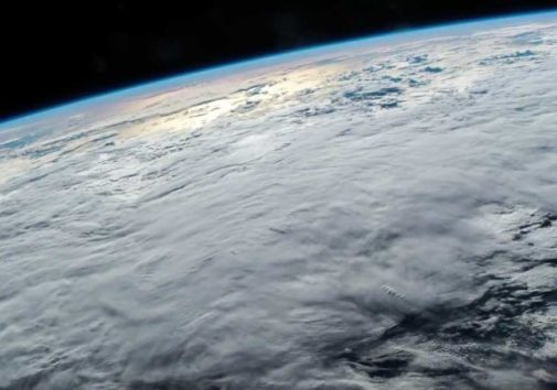 Earth's atmosphere seen from space.