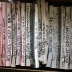 A box of scripts for the movie Beloved. Image credit: Alan Piñon, University of Michigan