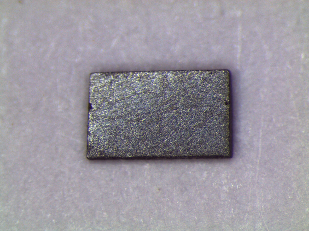 Pictured is a crystal of ytterbium dodecaboride, or YbB12. Image credit: Lu Li