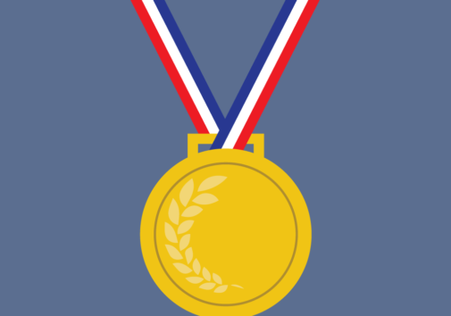 Illustration of a medal. Illustration credit: Katie Beukema