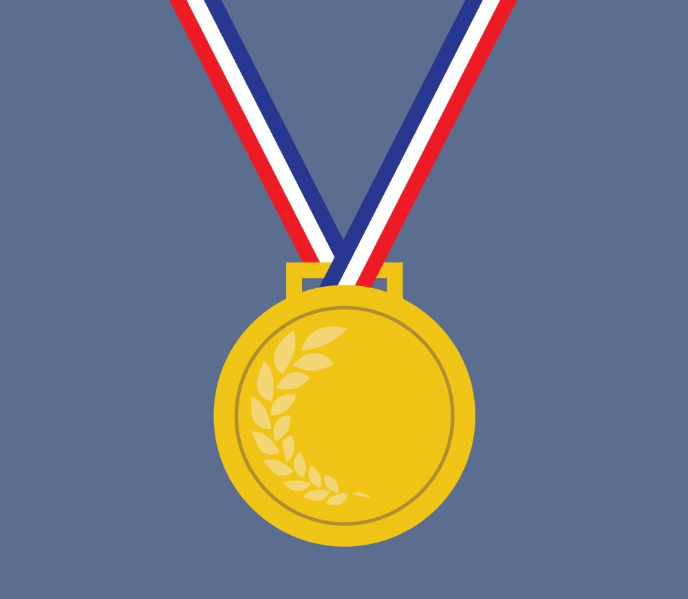 Illustration of a medal. Illustration credit: Katie Beukema