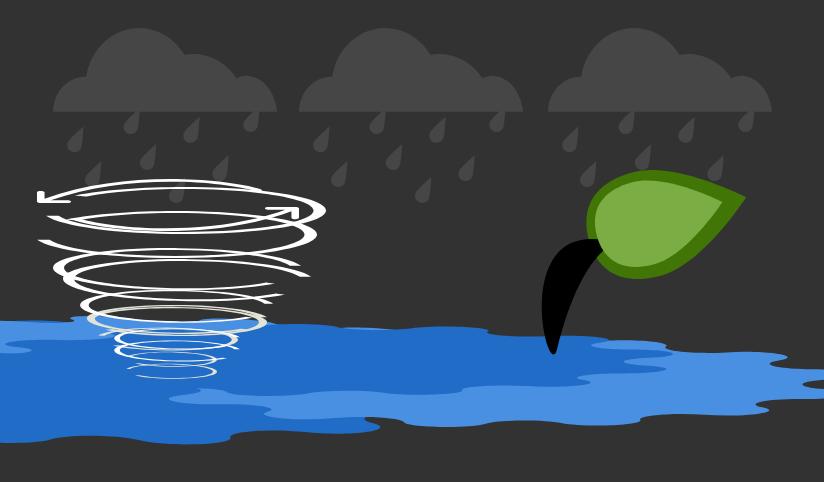 Concept illustration of a hurricane. Image credit: Ilma Bilic