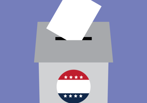 Concept illustration of a ballot box. Illustration credit: Kaitlyn Bukema