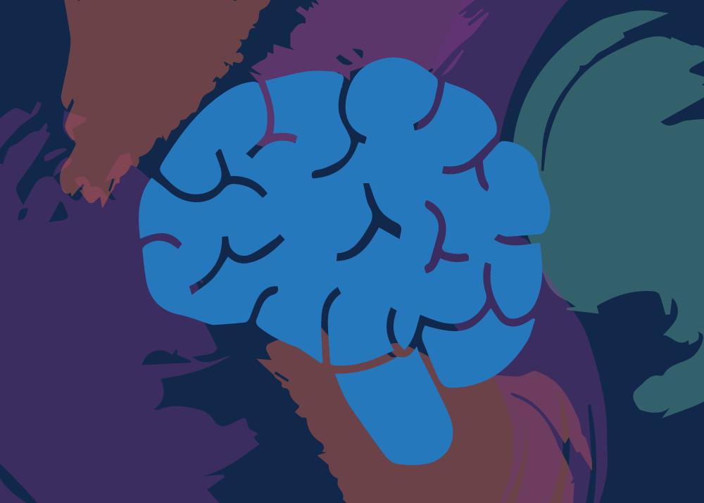 Concept illustration of a brain. Illustraion credit: Kaitlyn Bukema