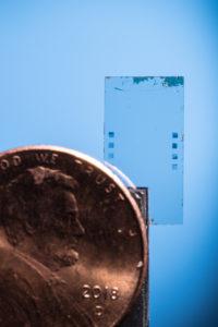 Microscopic device that bends light. Image credit: Austin Thomason/Michigan Photography