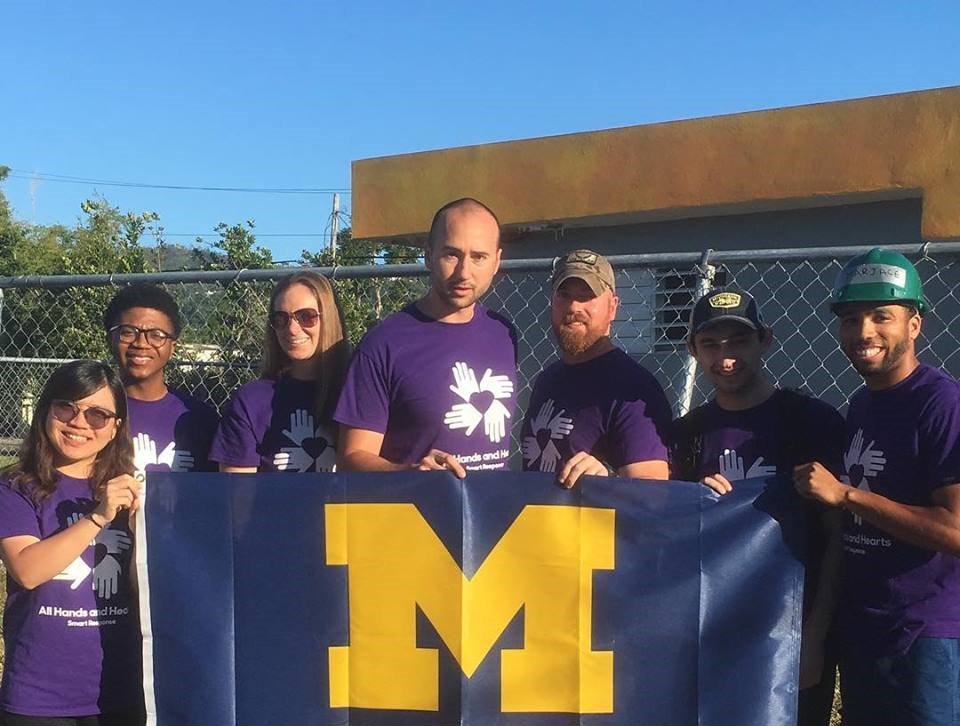 Members of the Wolverine Disaster Relief Team.